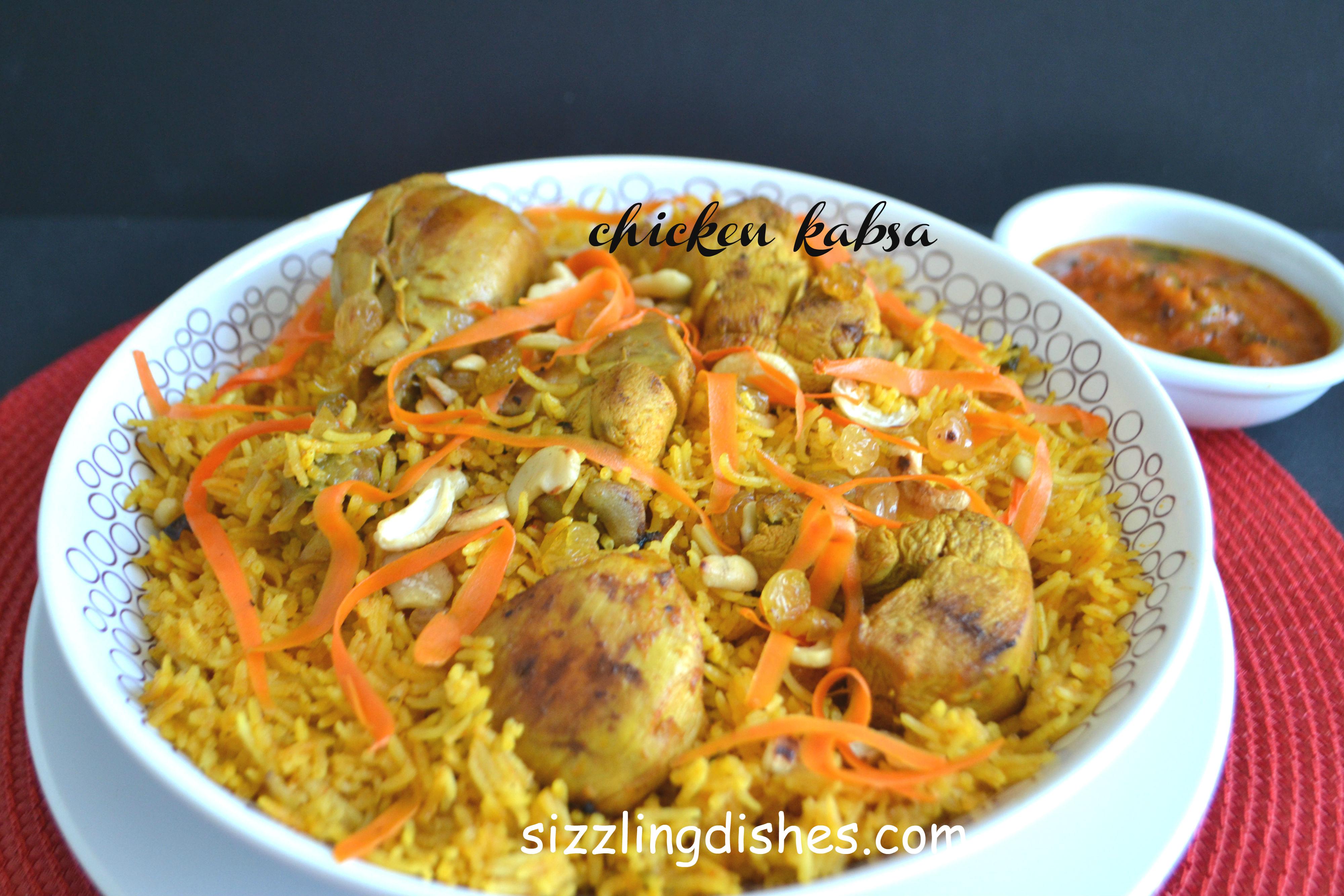 Chicken Kabsa Sizzling Dishes